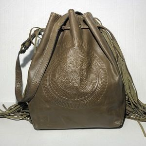 Patricia Nash Drawstring Crossbody Bucket Bag